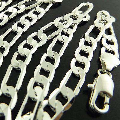 A831 Genuine Real 925 Sterling Silver S/f Solid Mens Italian Link Necklace Chain