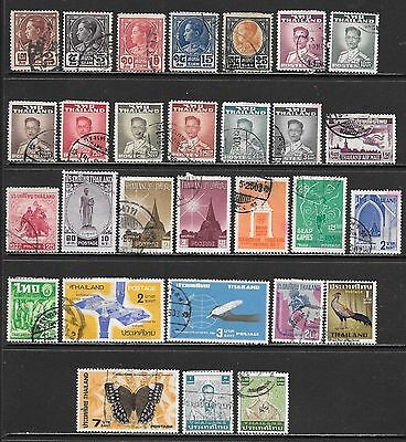 THAILAND SIAM Interesting All Used Issues Selection (Nov 0176)