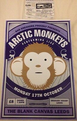 The Arctic Monkeys - Leeds Ticket And Gig poster ,Oct 2005