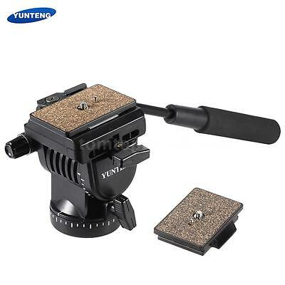 DSLR Camera Video Tripod Fluid Drag Tilt Pan Damping Head Quick Release QR Plate