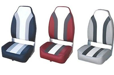 Folding Deluxe High Back Folding Boat Seat Fittings 3 Colour's