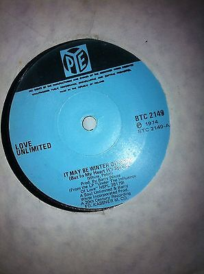 Love Unlimited - It May Be Winter Outside Barry White Christmas 7 Inch Vinyl