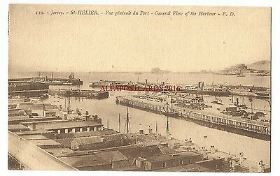 Jersey St Helier General View of Harbour Vintage Postcard