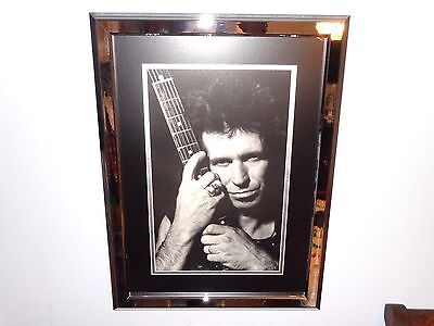 Keith Richards Rare Museum Quality Authentic Framed Promo Poster Rolling Stones