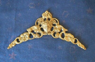Antique french BRONZE Plaque PEDIMENT Fronton