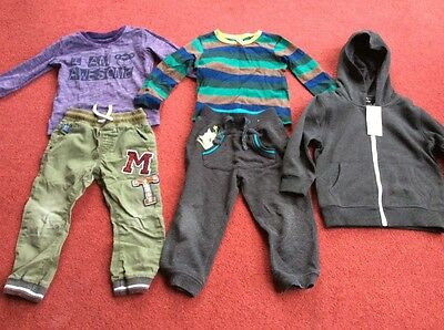 Large bundle of little boy clothes ages 2 - 3 years