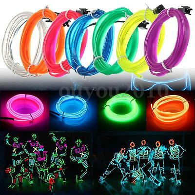 1/3/5M LED Flexible EL Fil Néon Glow Light Strip Bande Voiture Party Noël Décor