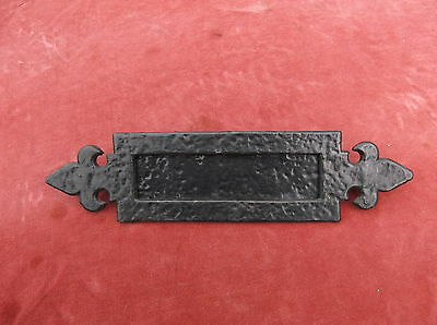 Vintage Cast Iron Letterbox / Door Furniture / Letter Receiver / Cast Iron Box