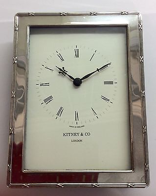 Kitney & Co Silver Clock