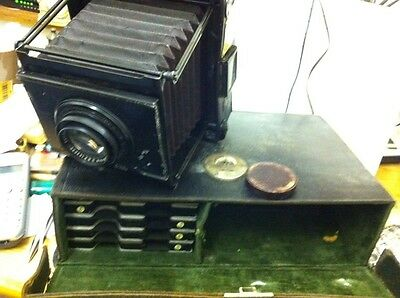 1902/08 Carl Zeiss Cased Minimum Palmos Plate Camera &more Free Uk Postage