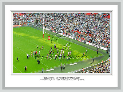 *ORIGINAL Hull FC Challenge Cup Final Print. LARGE FRAMED 20x16. *ONLY TWO LEFT