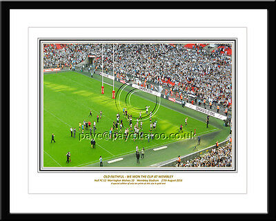 *ORIGINAL Hull FC Challenge Cup Final Print: LARGE BOX FRAMED GOLD EDITION