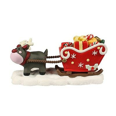 Rudolph reindeer and sleigh Christmas Cake Decoration Topper