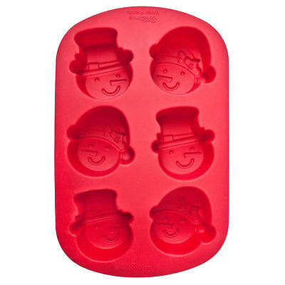Silicone 6 Cavity Christmas Cake Snowman Head Cake Pops Mini Cakes Mould Mold