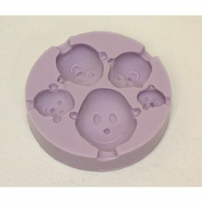 Karen Davies Face / Head Sugarcraft Mould 5 Sizes FAST NEXT DAY DESPATCH
