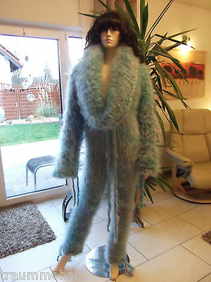 X68 Longhair Mohair Catsuit Overall Wollanzug Cowlneck Fetish Ouvert 5 Sizes