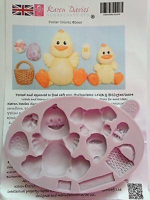 Karen Davies Easter Chicks Sugarcraft Mould Cupcakes Next Day Despatch