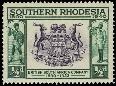 SOUTHERN RHODESIA 56 (SG53) - Seal of the British South Africa Co. (pa82883)