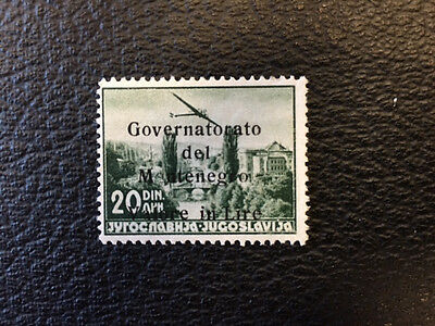 MONTENEGRO 16a Beautiful Mint Never Hinged Issue  WITH CERT 11 Known  UC64