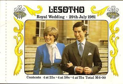 LESOTHO ROYAL WEDDING BOOKLET (Stitched) - 1981