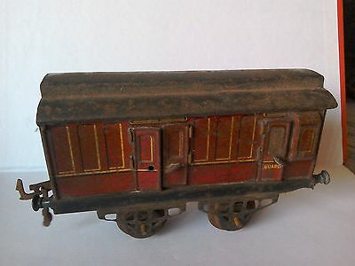 Hornby LMS Guard Wagon,... opening Doors.....O gauge