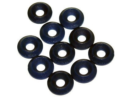 10 x Black M6 CSK Plastic Washers 17mm x 6mm UK KART STORE