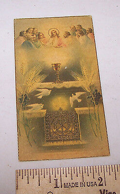 1939 Priest Ronald Hostetter St Joan of Arc Church Holy Prayer Card INDIANAPOLIS