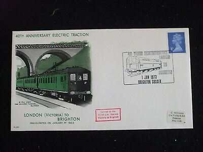 FDC - Railway History - 40th Anniversary of Electric Traction