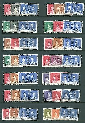 14 CORONATION sets from the British Empire - 1937 MINT stamp collection