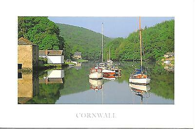 Lerryn, Cornwall - Estuary reflections - Posted Postcard