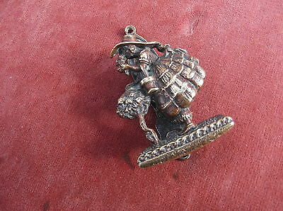Antique Crinoline Lady, Small Brass Door Knocker / Antique Brass Door Furniture
