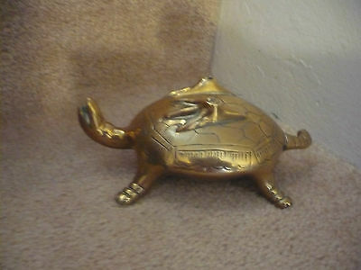 A Vintage Solid Brass Tortoise / Turtle An Outstanding Unusual Design