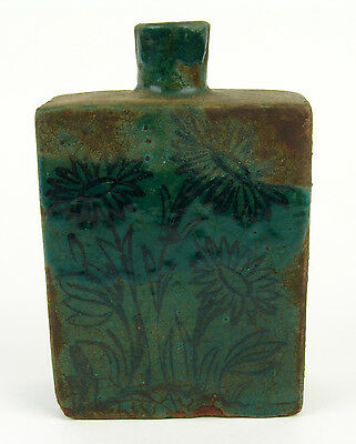 Fine Antique Ancient 16/17thC Persian Pottery or Ceramic Tea Caddy or Bottle