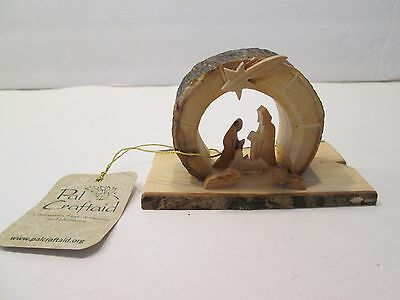 Vintage Hand Carved PAL CRAFTAID Wooden Nativity Scene Christmas Ornament Figure