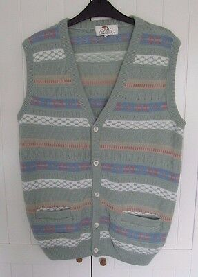 Arnold Palmer Womens Knitted Vintage Waistcoat / Cardigan Size 16-18 Green
