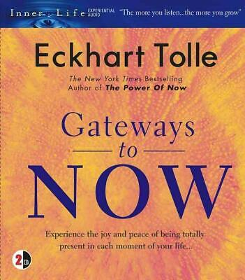 Gateways to Now by Eckhart Tolle (English) Compact Disc Book Free Shipping!