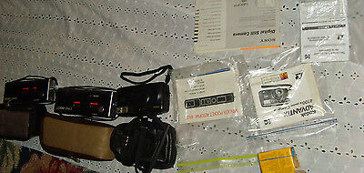Lot of vintage cameras cases and accessories FOR PARTS DISPLAY REPAIR PIECES fun