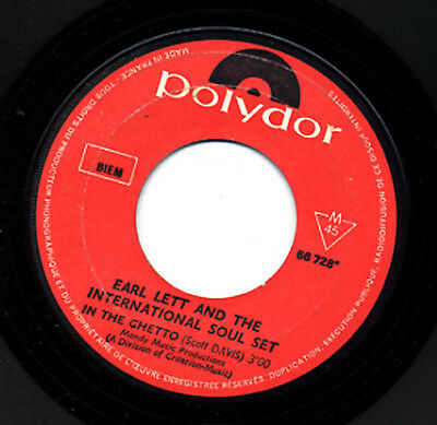 "7"" SP EARL LETT AND THE INTERNATIONAL SOUL SET : In the ghetto"