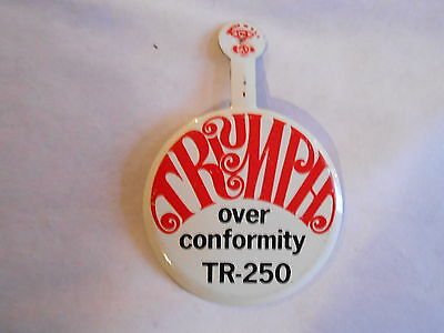 Vintage Triumph TR-250 Classic Automobile Advertising Fold Tab Pinback Pin