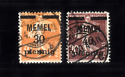 Two very nice old Memel French Occupation issues