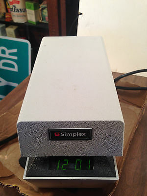 Simplex  Time Stamp  Time Clock TESTED