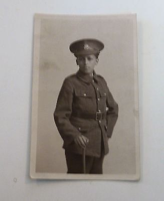 WW1 Postcard Young ,Soldier or Cadet  , unposted RP