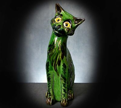 Stunning Large And Rare C. H. Brannham Barnstable Cat With Glass Eyes