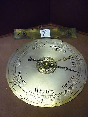 Original Antique Banjo Barometer 8ins Signed Dial Hands And Interior Pully(7)
