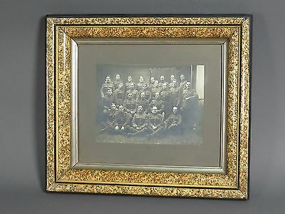 Vintage WW1 Framed Group Military Army Photo Picture