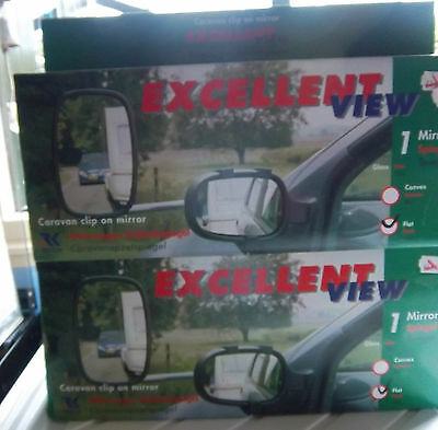 Pair Of New And Unused Reich Clip-On Towing Mirrors.