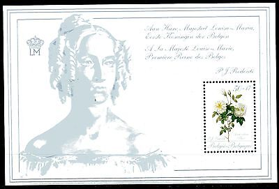 Belgium obp BL65 - ROSES REDOUTE - QUEEN LOUISE-MARIE  s/s 1989 - ** MNH