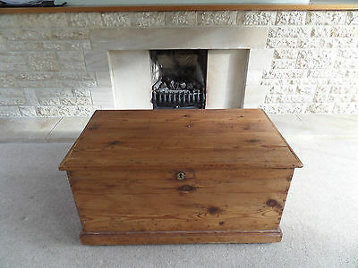Antique Solid Pine Chest or Trunk Toy or Clothes Storage Box Ottoman *free del.