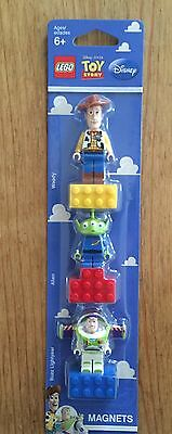 LEGO 852949 Toy Story Woody Alien Buzz Lightyear Minifigure Magnets NEW & SEALED