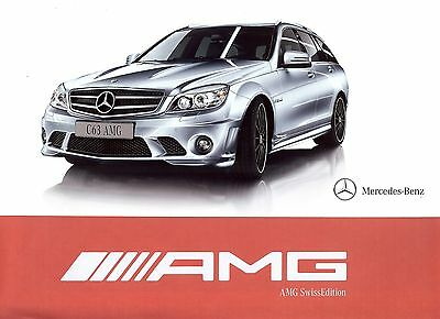 "2010 - MERCEDES AMG C 63 ""Swiss Edition"" limited edition - Swiss sales brochure"